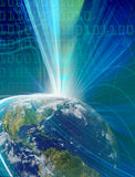 Conceito abstrato da telecomunicação