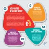Conceito abstrato de Infographic - esquema criativo do projeto ilustração royalty free