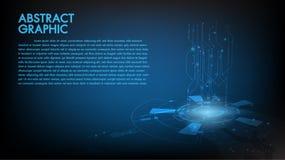 Conceito abstrato de uma comunicação da Olá!-tecnologia do fundo da tecnologia, tecnologia, negócio digital, inovação, cena da fi ilustração stock
