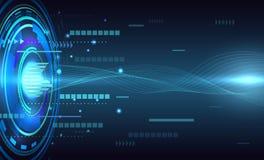 Conceito abstrato de uma comunicação do fundo da tecnologia Imagem de Stock