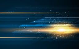 Conceito abstrato do fundo do projeto do teste padrão do movimento da velocidade da tecnologia do teste padrão do retângulo Imagem de Stock