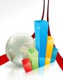 Conceito abstrato do negócio e da comunicação Fotos de Stock