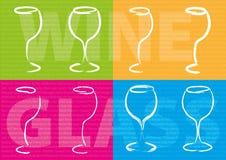 Conceito abstrato do vinho Fotografia de Stock