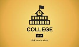 Conceito acadêmico da universidade do conhecimento do ensino universitário ilustração royalty free