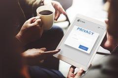 Conceito acessível da segurança da autorização da privacidade imagem de stock