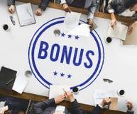 Conceito adicional Incentive da compensação do lucro premiado do bônus Fotos de Stock Royalty Free