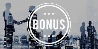 Conceito adicional Incentive da compensação do lucro premiado do bônus Foto de Stock