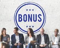 Conceito adicional Incentive da compensação do lucro premiado do bônus imagens de stock
