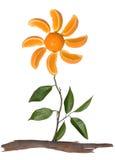 Conceito alaranjado da flor Foto de Stock Royalty Free