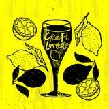 Conceito alcoólico do cocktail do ofício do Grunge ilustração royalty free