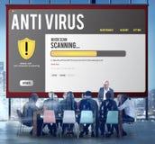 Conceito alerta da segurança da proteção do hacker do guarda-fogo do Antivirus imagem de stock
