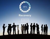 Conceito alternativo da segurança do armazenamento de dados da restauração da recuperação Fotografia de Stock