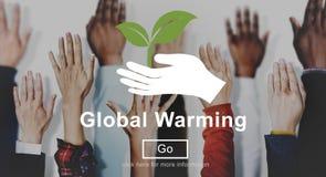 Conceito ambiental do Web site das alterações climáticas do aquecimento global fotos de stock