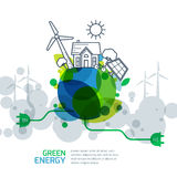 Conceito ambiental e da ecologia Fotografia de Stock Royalty Free