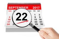 Conceito americano do dia do ` s das mulheres de negócio 22 de setembro de 2017 Calenda Fotografia de Stock Royalty Free