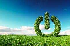 Conceito amigável da energia renovável de Eco rendição 3d do prisioneiro de guerra verde ilustração stock