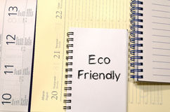 Conceito amigável do texto de Eco Foto de Stock Royalty Free