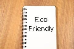 Conceito amigável do texto de Eco Fotos de Stock Royalty Free