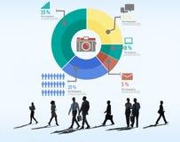 Conceito analítico do diagrama do gráfico da partilha de mercado da análise fotos de stock