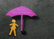 Conceito anual do mamograma imagens de stock