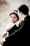 Conceito asiático da mostra dos pares do casamento do amor Fotografia de Stock Royalty Free