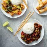 Conceito asiático do alimento fotos de stock