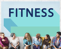 Conceito atlético do exercício do bem-estar do treinamento da saúde da aptidão Imagens de Stock