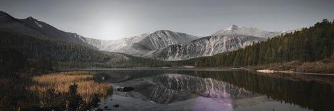 Conceito atrativo do destino do curso da natureza de Mongólia Foto de Stock Royalty Free