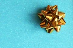 Conceito atual - azul e ouro foto de stock