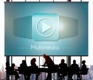 Conceito audio do entretenimento de Digitas do computador dos multimédios fotografia de stock