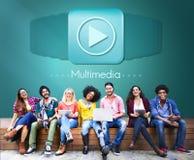 Conceito audio do entretenimento de Digitas do computador dos multimédios foto de stock royalty free