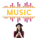 Conceito audio do gráfico da onda da música da música fotografia de stock royalty free
