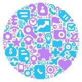 Conceito azul e violeta do mundo humano ilustração stock