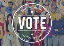 Conceito bem escolhido da votação da votação da eleição da decisão do eleitor do voto fotos de stock