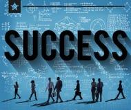 Conceito bem sucedido da realização da realização do objetivo do sucesso Fotografia de Stock