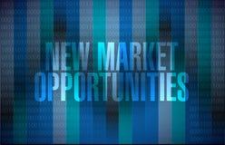 Conceito binário do sinal das oportunidades de novo mercado Imagens de Stock