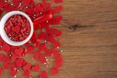 Conceito bonito do dia de Valentim com corações foto de stock royalty free
