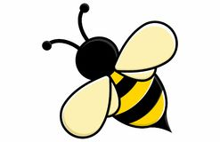 Conceito bonito dos desenhos animados da abelha do mel ilustração royalty free