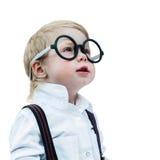 Conceito branco isolado criança de volta à escola Imagens de Stock