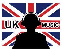 Conceito britânico da música Fotografia de Stock Royalty Free