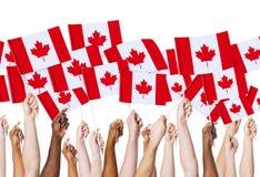 Conceito canadense da nação da cultura da bandeira imagens de stock royalty free