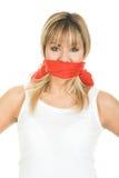 Conceito censurado - liberdade de expressão Foto de Stock Royalty Free