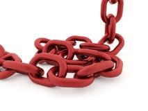 Conceito Chain rendido no fundo branco ilustração royalty free