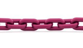 Conceito Chain rendido no fundo branco ilustração do vetor