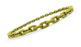 Conceito Chain rendido no fundo branco ilustração stock