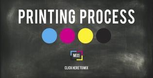 Conceito chave amarelo magenta ciano de processo de impressão CMYK fotos de stock