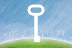 Conceito chave do símbolo Imagem de Stock