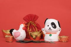 Conceito 2018 chinês do ano novo Imagens de Stock