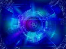 Conceito circular abstrato da tecnologia uma comunicação da Olá!-tecnologia em t Foto de Stock Royalty Free