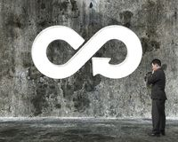 Conceito circular da economia Fotos de Stock Royalty Free
